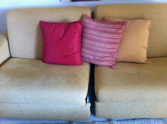 Club La Costa:                   Couch in our apartment..don't fall through the gap!