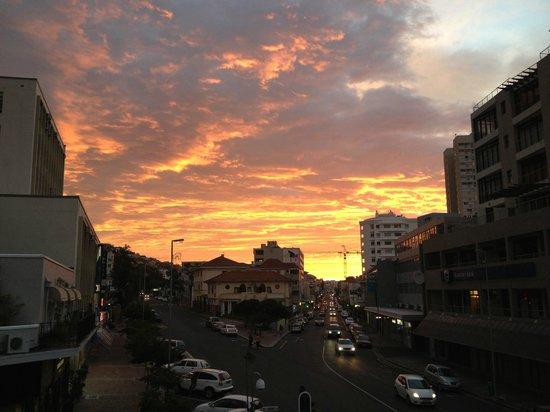 Afrique du Sud Backpackers: Sonnenuntergang auf dem Balkon