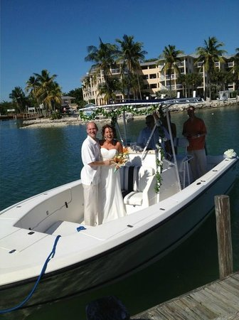 Postcard Inn Beach Resort & Marina:                   We docked a boat at the Celebration Island for after the ceremony