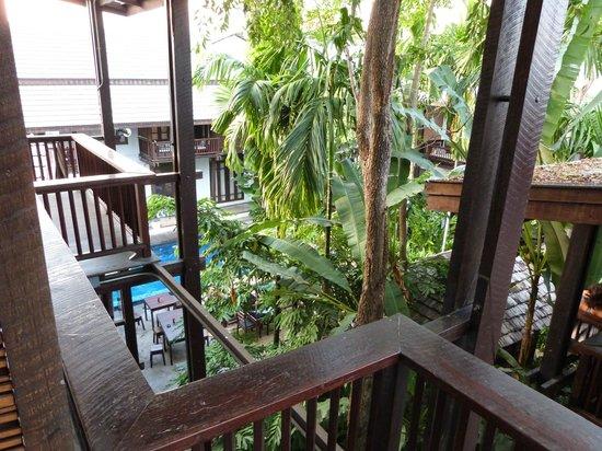 โรงแรมบ้านไทย วิลเลจ: vue du balcon