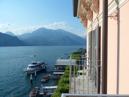 Hotel Metropole Bellagio:                   View looking to the right of our balcony
