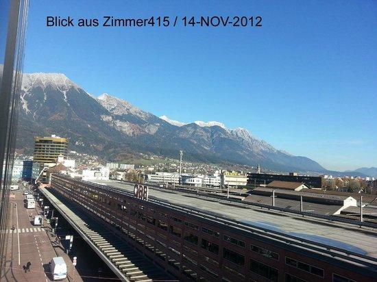Ibis Innsbruck: Blick aus dem Zimmer 415