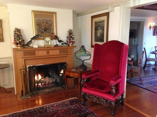 1708 House: Relax by the fire in our living room