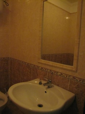 Hotel Mignon : Bathroom mirror and sink