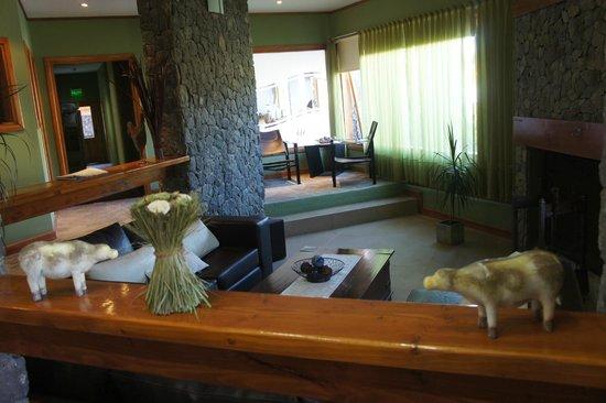 Hosteria El Coiron: sala relax y tv