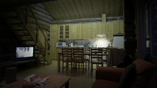 Levi Log Cabins:                   kitchen area nice and spacious