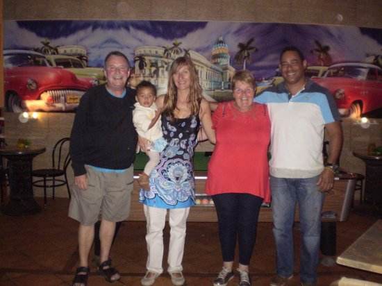 Sugar Restaurant and Bar: Owners of Sugar, Nikki,Amen and their beautiful daughter Analise with us.
