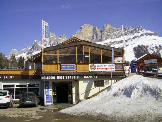 Carezza Ski: area ristoro a valle