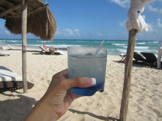Viceroy Riviera Maya:                   relaxing on the beach