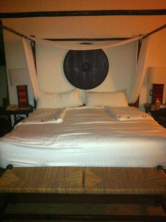 our bed ( made by Susana)