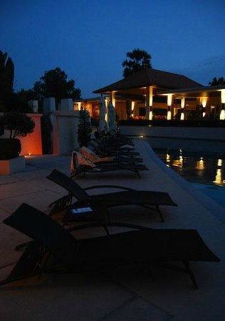 Dewa Phuket Resort Nai Yang Beach:                   Pool area by evening, facing to the lobby