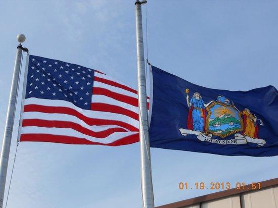 Best Western Albany Airport Inn:                                     American Flag flying high, God Bless America..