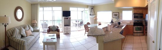 Sands at Grace Bay: iphone panorama of the living room/porch/kitchen