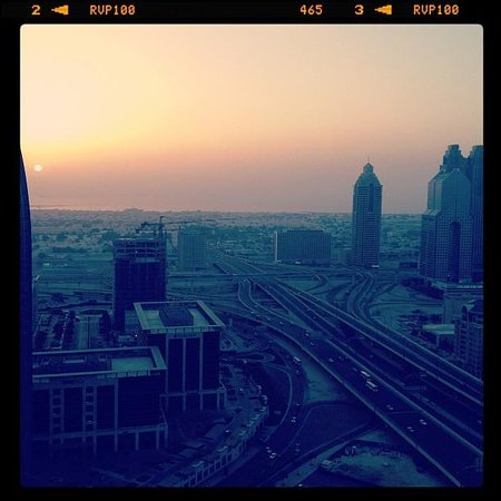 The Address Dubai Mall:                   The view from my suite