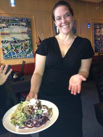 Union Street Grill:                   Serena and the Pork & Feta Salad :)