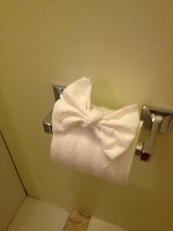ذا بيليكان كي لارجو كوتجز:                   the surprise in the bathroom.                 