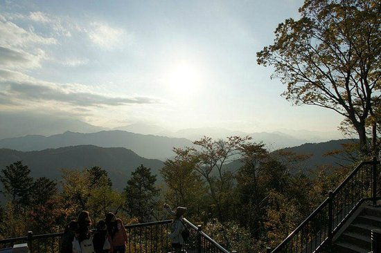 Mt. Takao: View from the top (Mt Fuji not visible that day)