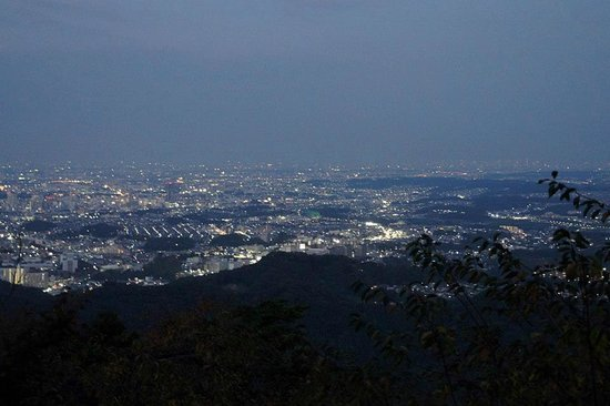 Mt. Takao: View as night falls