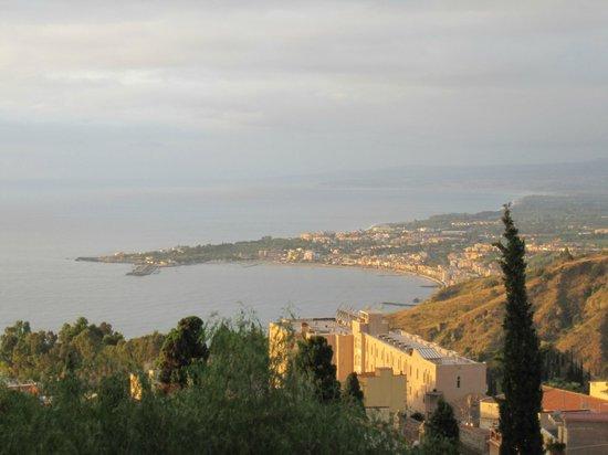Casa Cuseni B&B:                   Taormina view from terrace