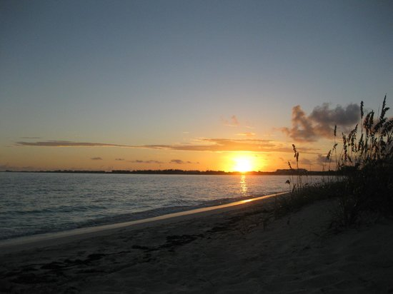 Atlantic Ocean Beach Villas:                   Sunrise over Grace Bay