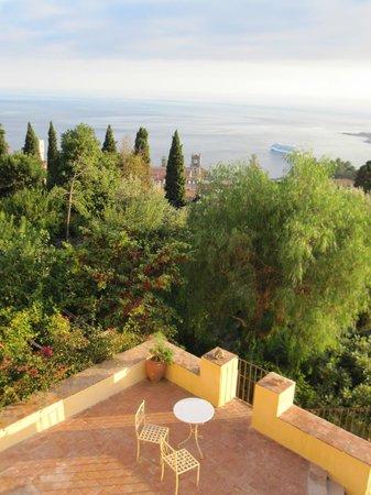 Casa Cuseni B&B:                   Terrace at front of house