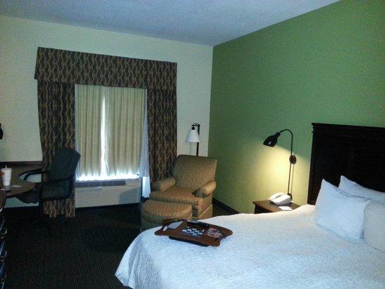 Hampton Inn & Suites Nashville-Smyrna : typical Hampton room but with small fridge, microwave, and good TV