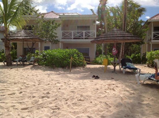 Galley Bay Resort: Our room from beach
