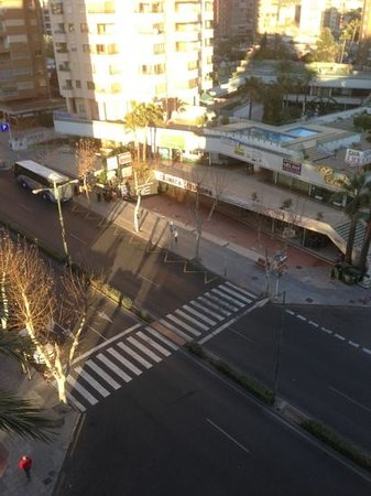 Belroy Apartamentos: the road running along side belroy from balcony at side