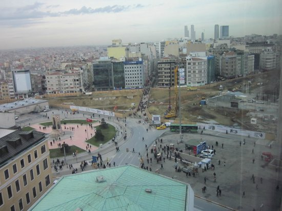 The Marmara Taksim: View from the room of Taksim Square