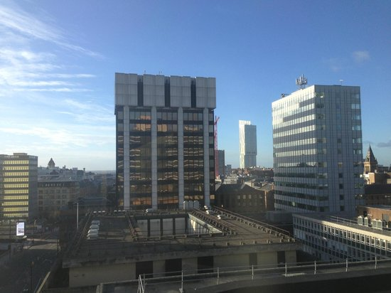 Mercure Manchester Piccadilly Hotel:                   The only bit of sun I saw just as I was leaving!