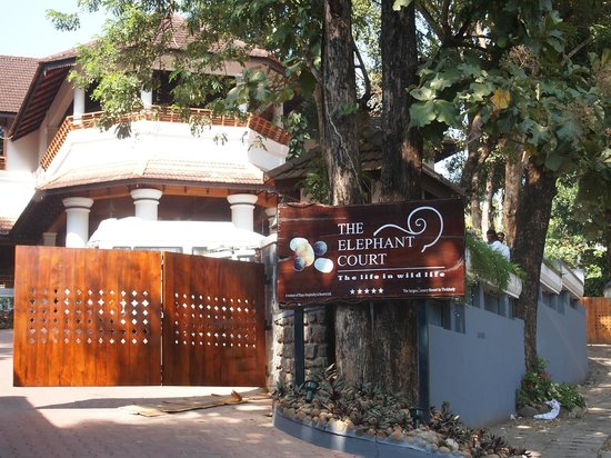 The Elephant Court Thekkady:                   front entrance