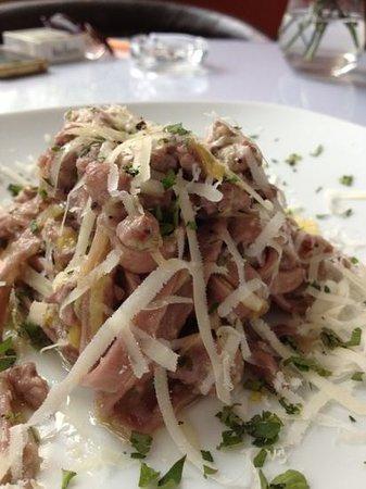 Mexita:                   Handmade red wine fettucini w/ Italian sausage