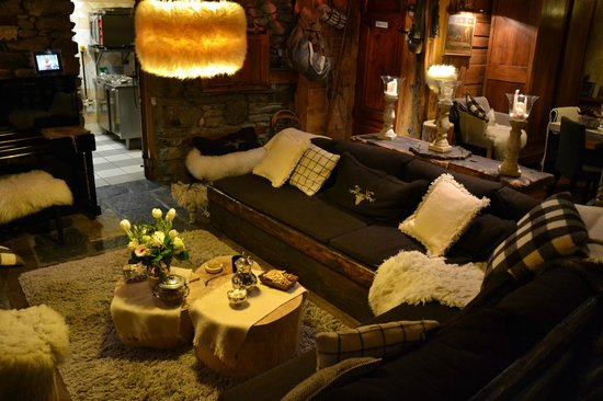 La ferme d'Angele:                   the cozy living room