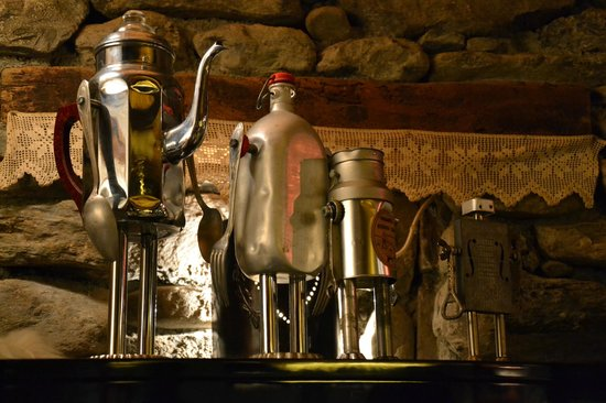 La ferme d'Angele:                   some of the weird and wonderful objects in the chalet
