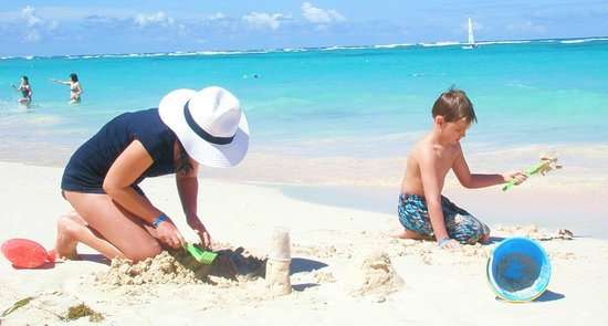 Grand Bahia Principe Punta Cana:                   sand is so clean - they work hard to keep it that way