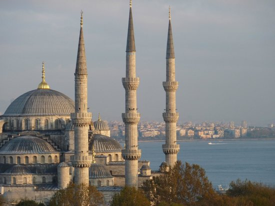 Hotel Mina:                                     The Blue Mosque from the hotel terrace