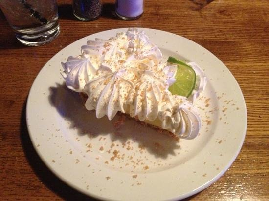 Jonah's Seafood House: key lime pie... too much whip cream, scraped most of it off!