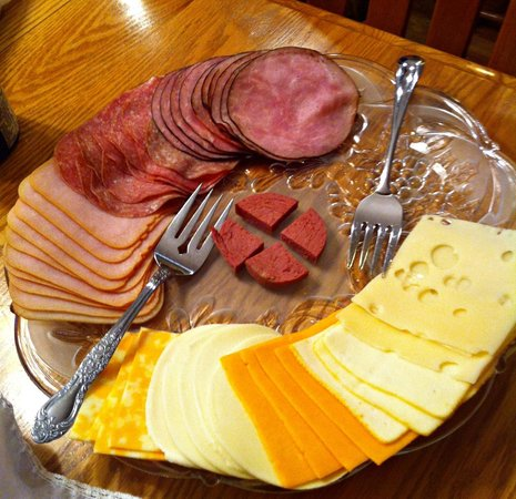 Kessler Old World Guesthouse:                   MEAT and CHEESE.