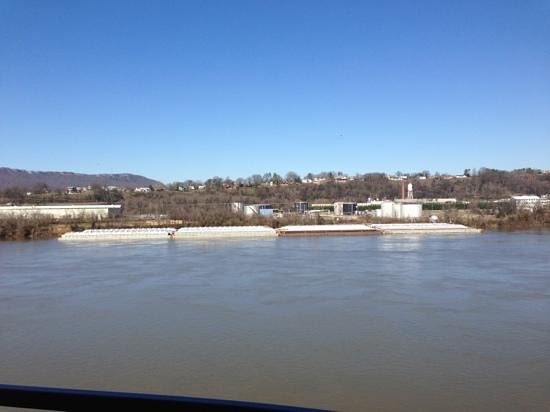 SpringHill Suites Chattanooga Downtown/Cameron Harbor:                   Balcony view- Fourth floor left side.