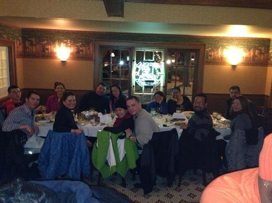 Currans : Delicious meal after a long day of skiing.