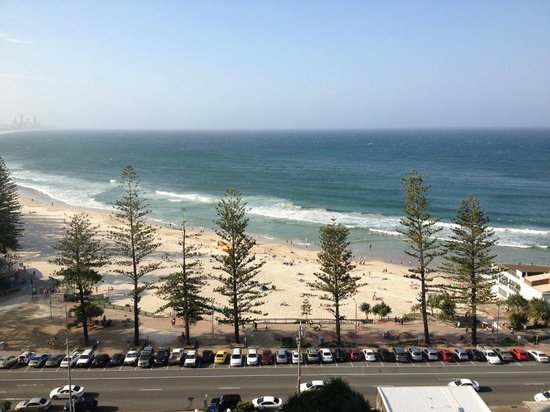 Burleigh Beach Tower:                   View from our unit