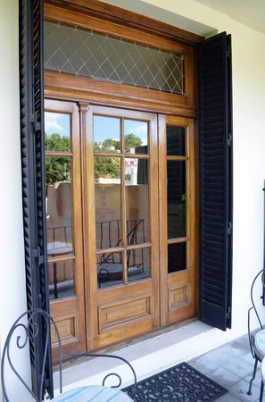 Cabrera Garden Boutique Guest House:                   Sta. Margarita Doorway to balcony