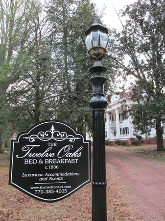The Twelve Oaks Bed & Breakfast:                   Twelve Oaks Sign
