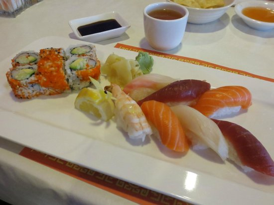 Ginger Garden:                   Always fresh sushi...look at that beautiful color