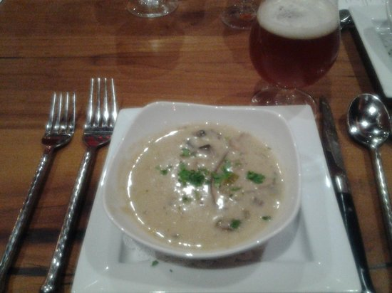 The Inn at Cooperstown:                   Cream of Mushroom Soup