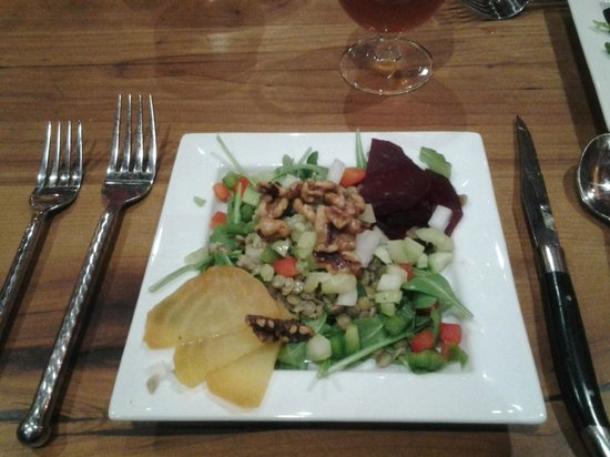 The Inn at Cooperstown:                   Lentil & Beet Salad