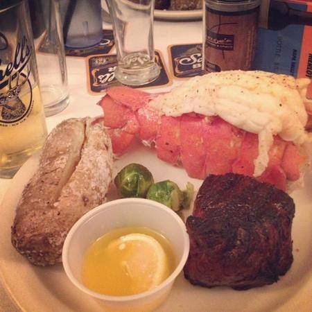 George's Fine Steaks & Spirits:                   George's Filet and Lobster Tail