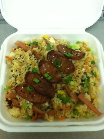 Island Kine Grinds: Portuguese Sausage Fried Rice