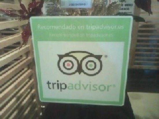 Maute Grill: Sello de calidad TripAdvisor