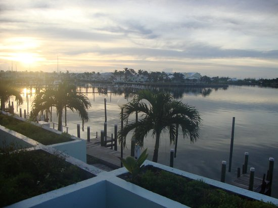 Treasure Cay Beach, Marina & Golf Resort:                   Sunrise view at our condo